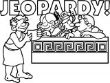 Greece Jeopardy Coloring Page