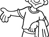 Greece Man Coloring Page