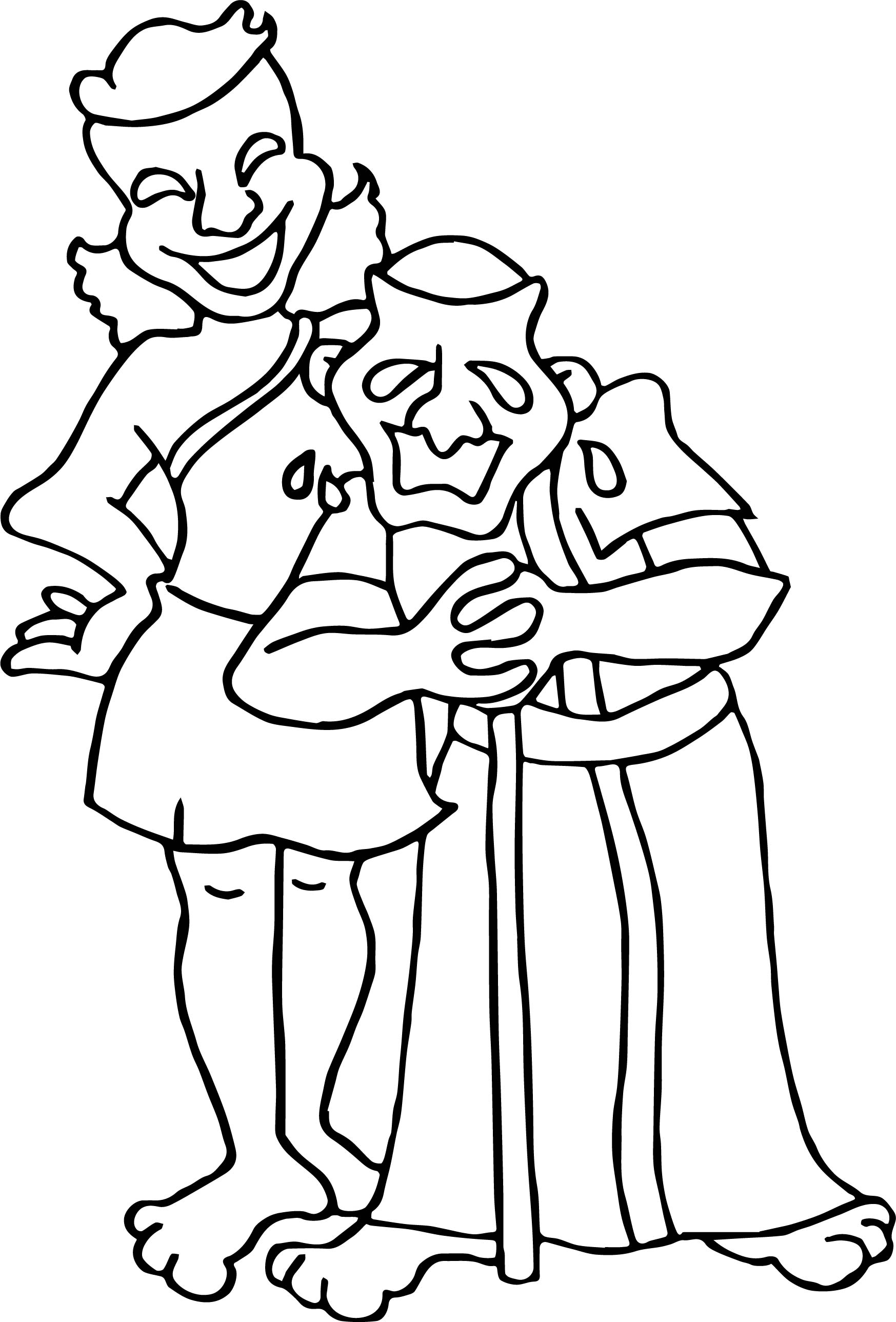 Greece Theater Coloring Page
