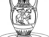 Greece Vase Coloring Page