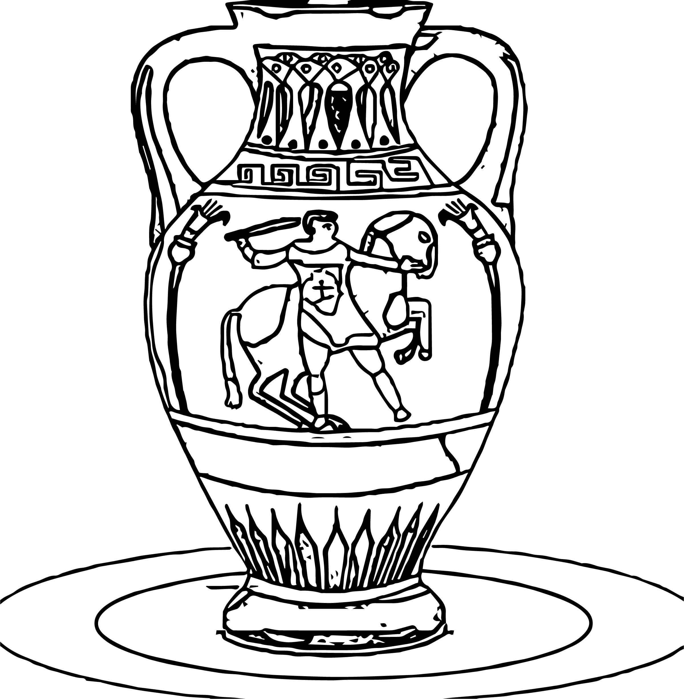 Greece Vase Coloring Page