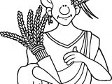 Greek Greece Demeter Coloring Page