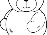 Had Bear Coloring Page