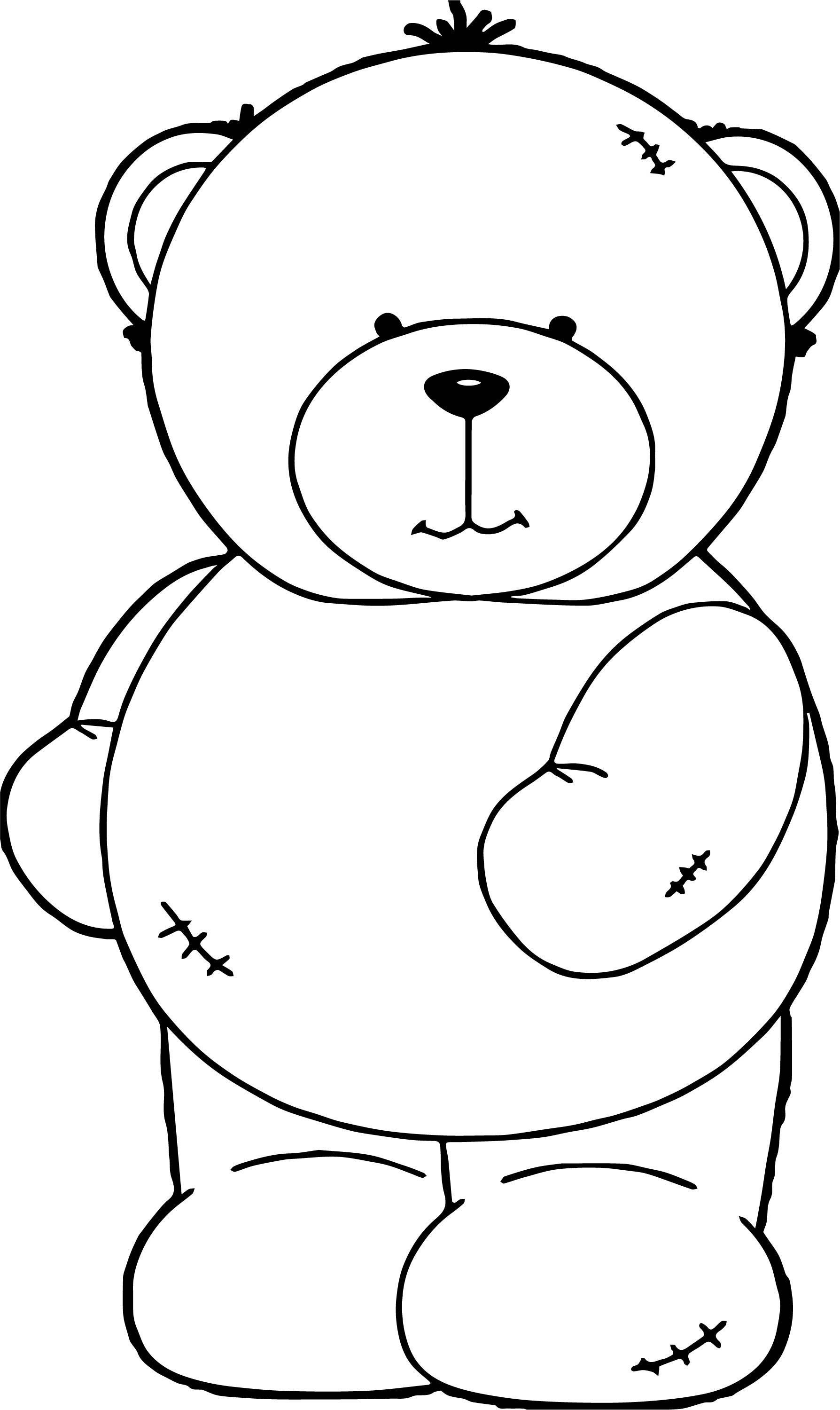 Had Bear Coloring Page