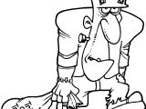 Halloween Cartoon Frankensteinian Coloring Page