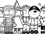 Halloween Children Coloring Page