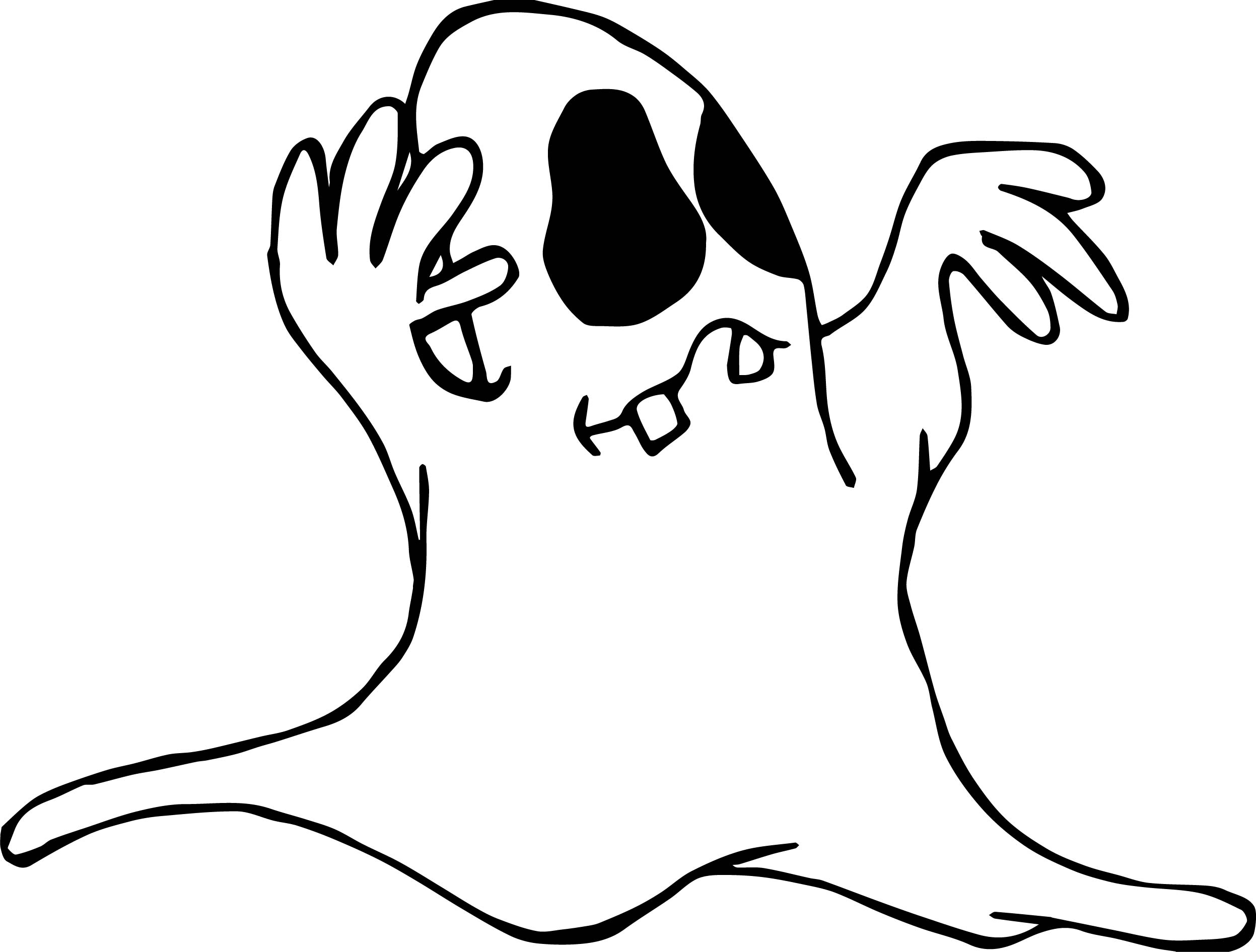 Halloween Ghost Coloring Page | Wecoloringpage.com