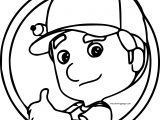 Handy Manny Coloring Page Circle