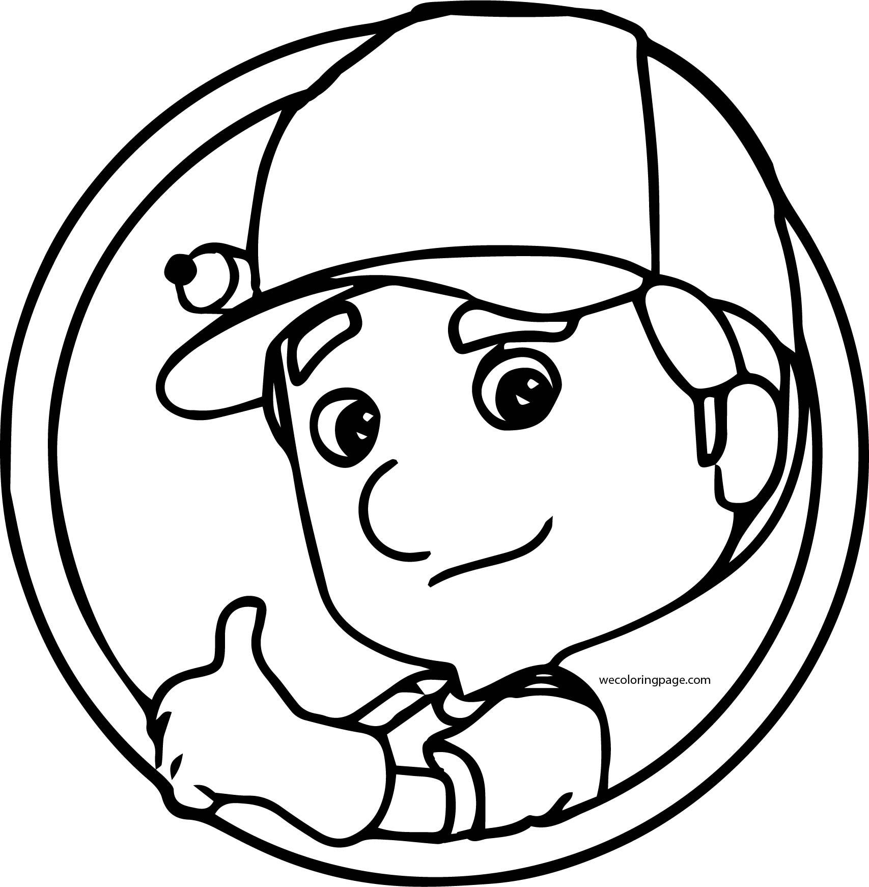 Handy Manny Coloring Page Circle