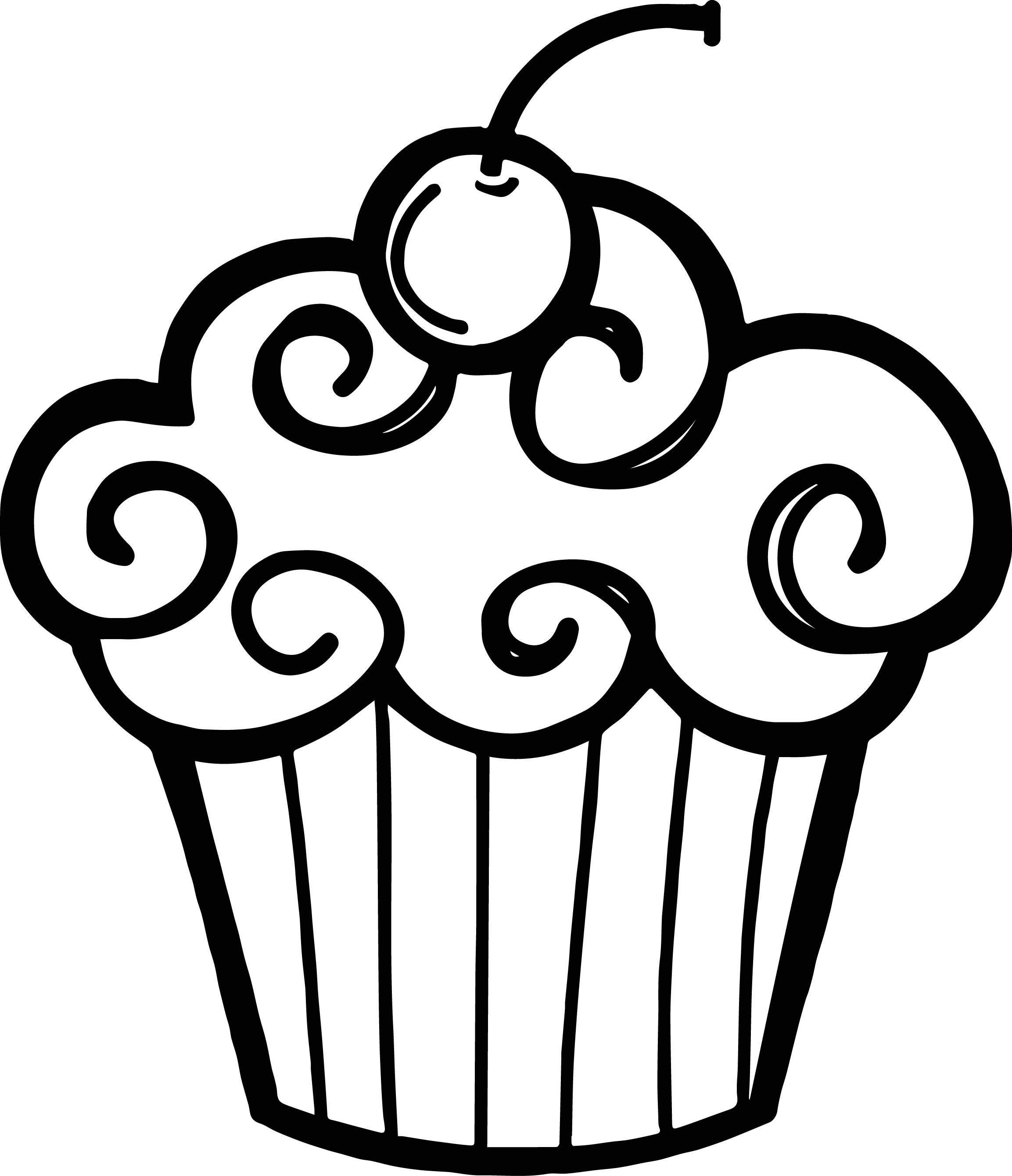 Happy Birthday Cupcake Clip Art