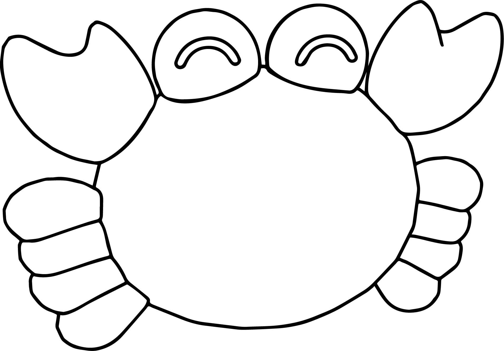 Happy Crab Coloring Page