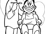 Happy Dental Happy Dentist Coloring Page