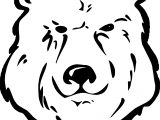 Has Bear Face Coloring Page