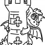 Hiding Dragon Castle Coloring Page
