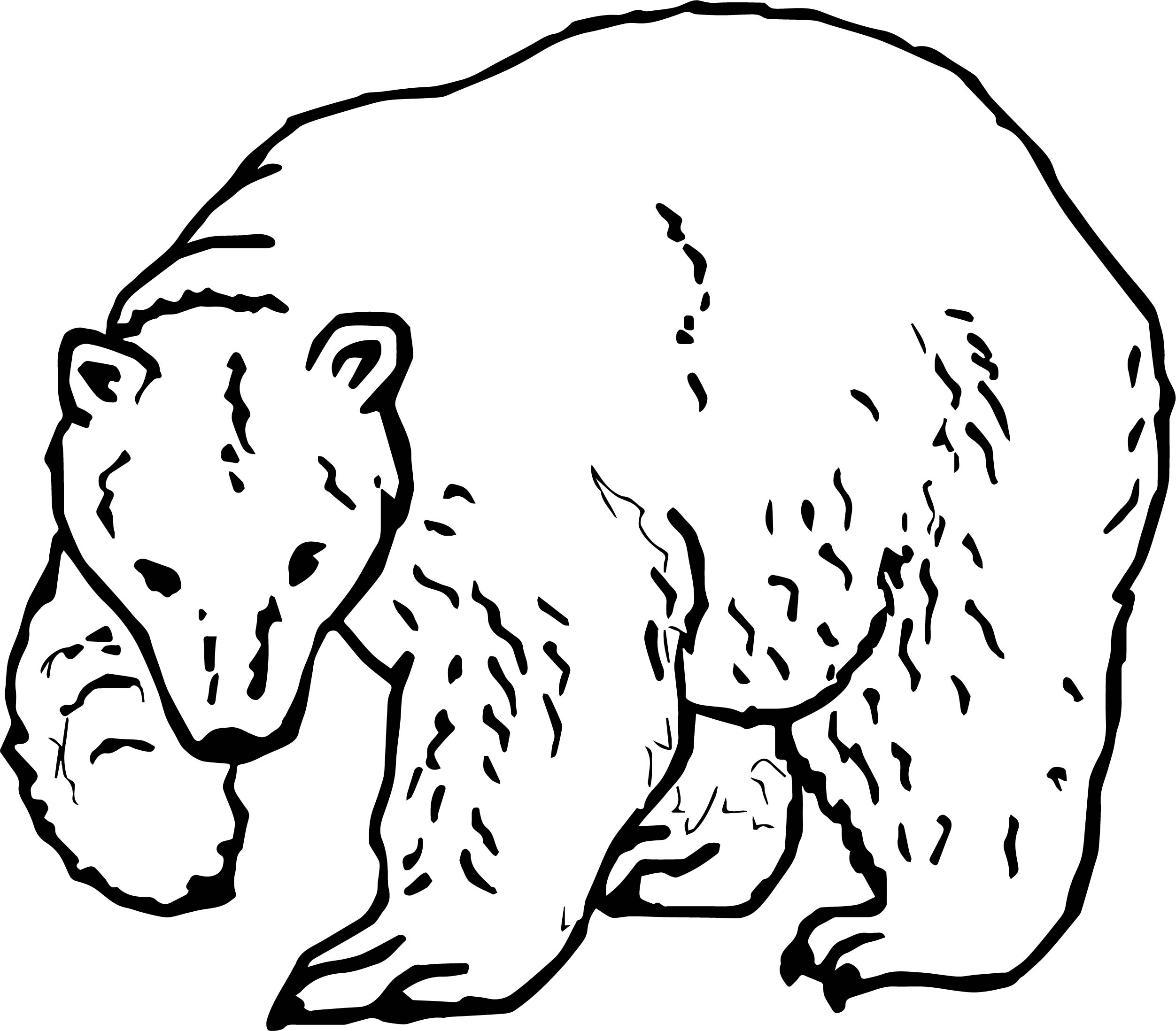 High Bear Coloring Page