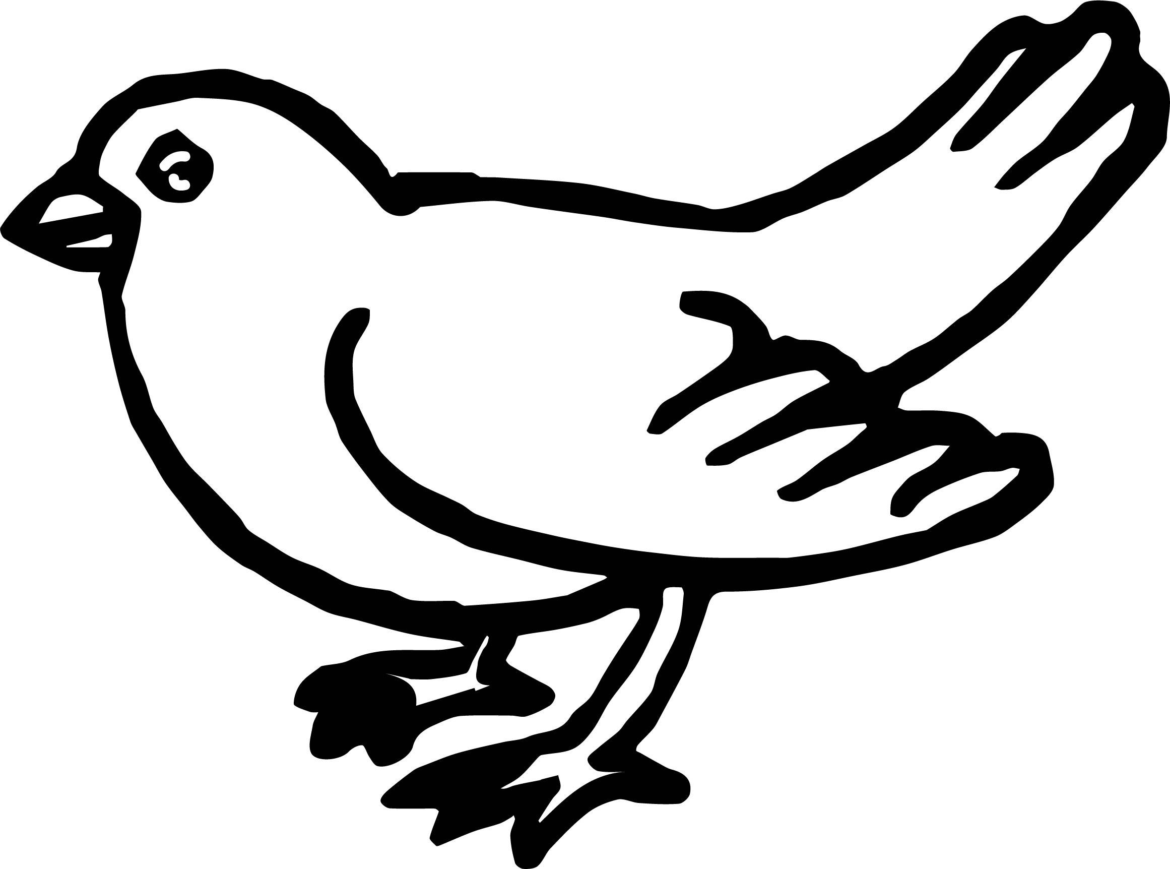 His Bird Coloring Page