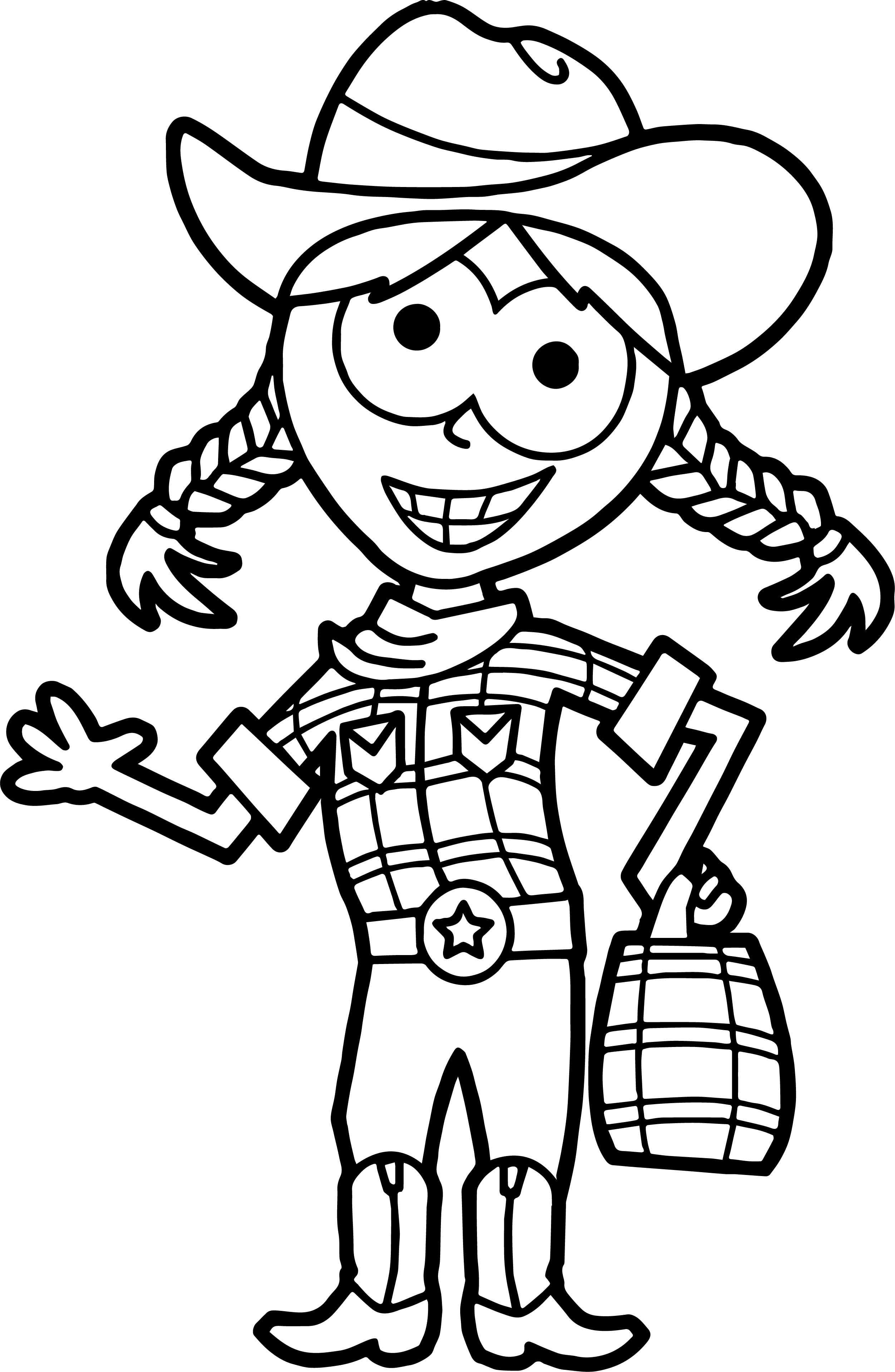 Home Free Halloween Trick Or Treat Cow Girl Free Coloring Page