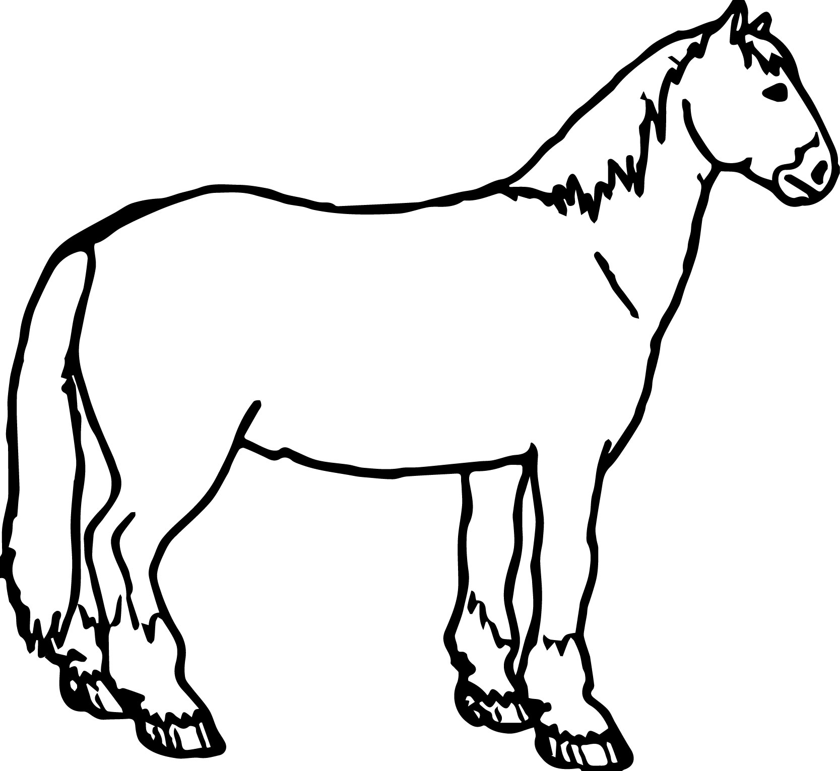 Horse Side Coloring Page