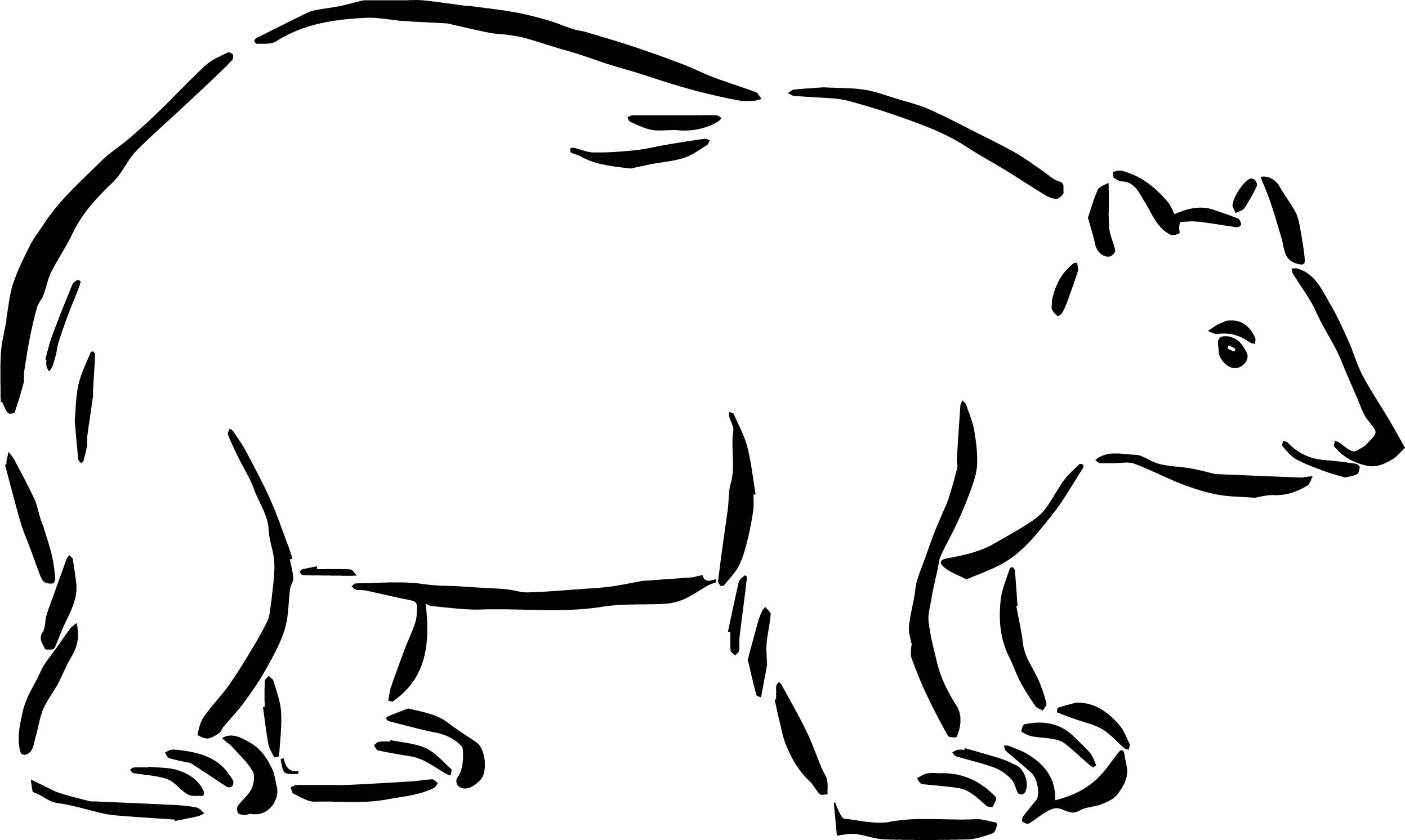 I Bear Coloring Page
