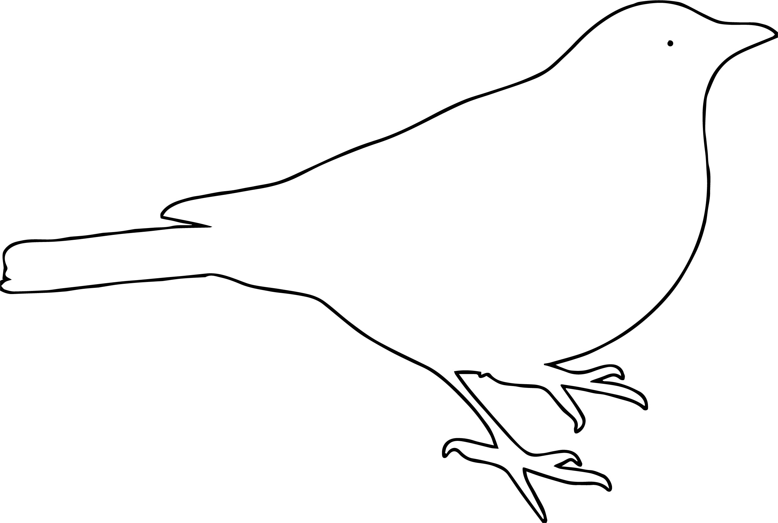 I Bird Outline Coloring Page