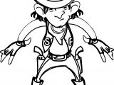 Illegal Cowboy Coloring Page