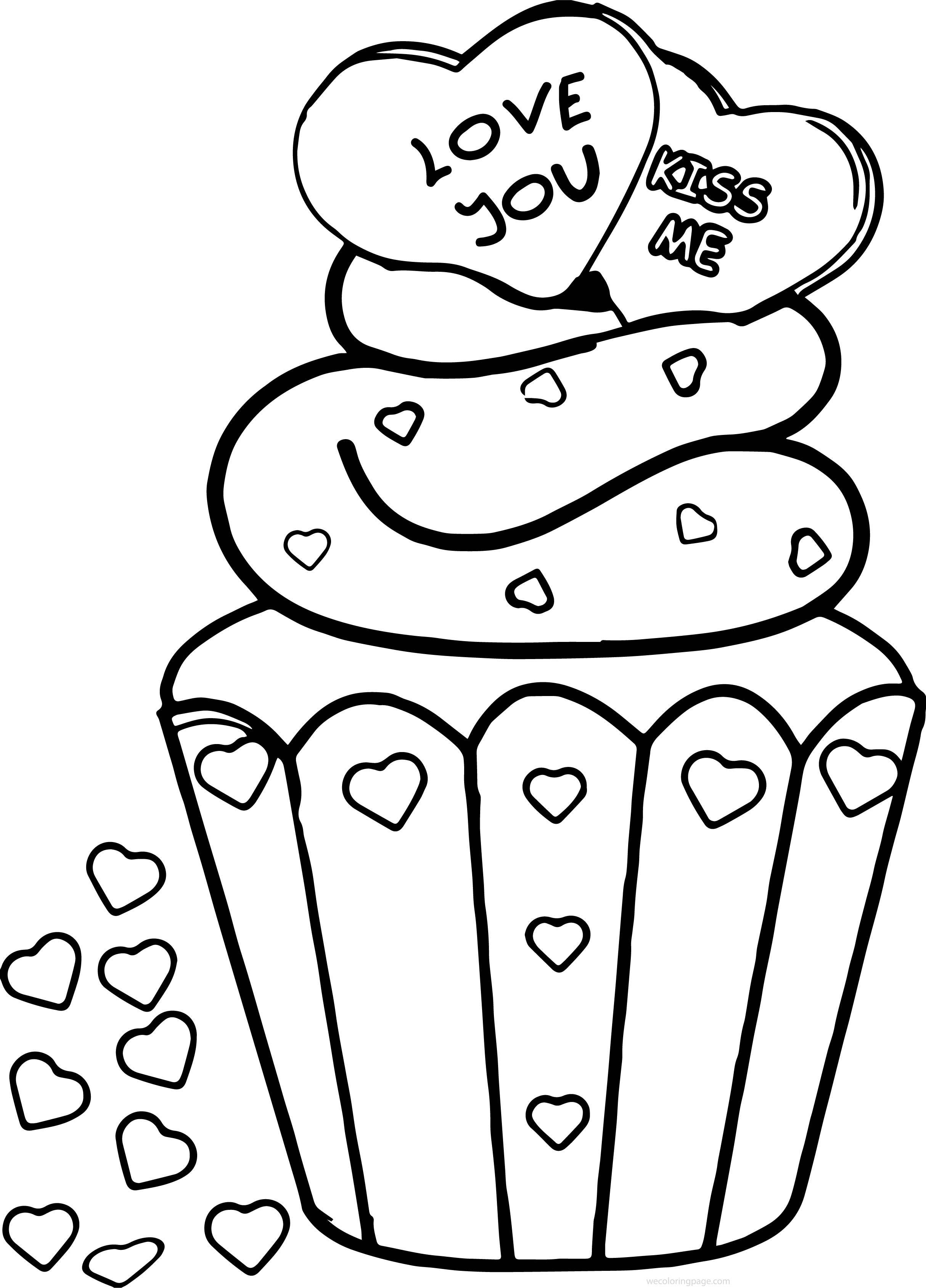 hearts and kisses coloring pages - photo#18