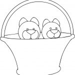 In Basket Cats Coloring Page