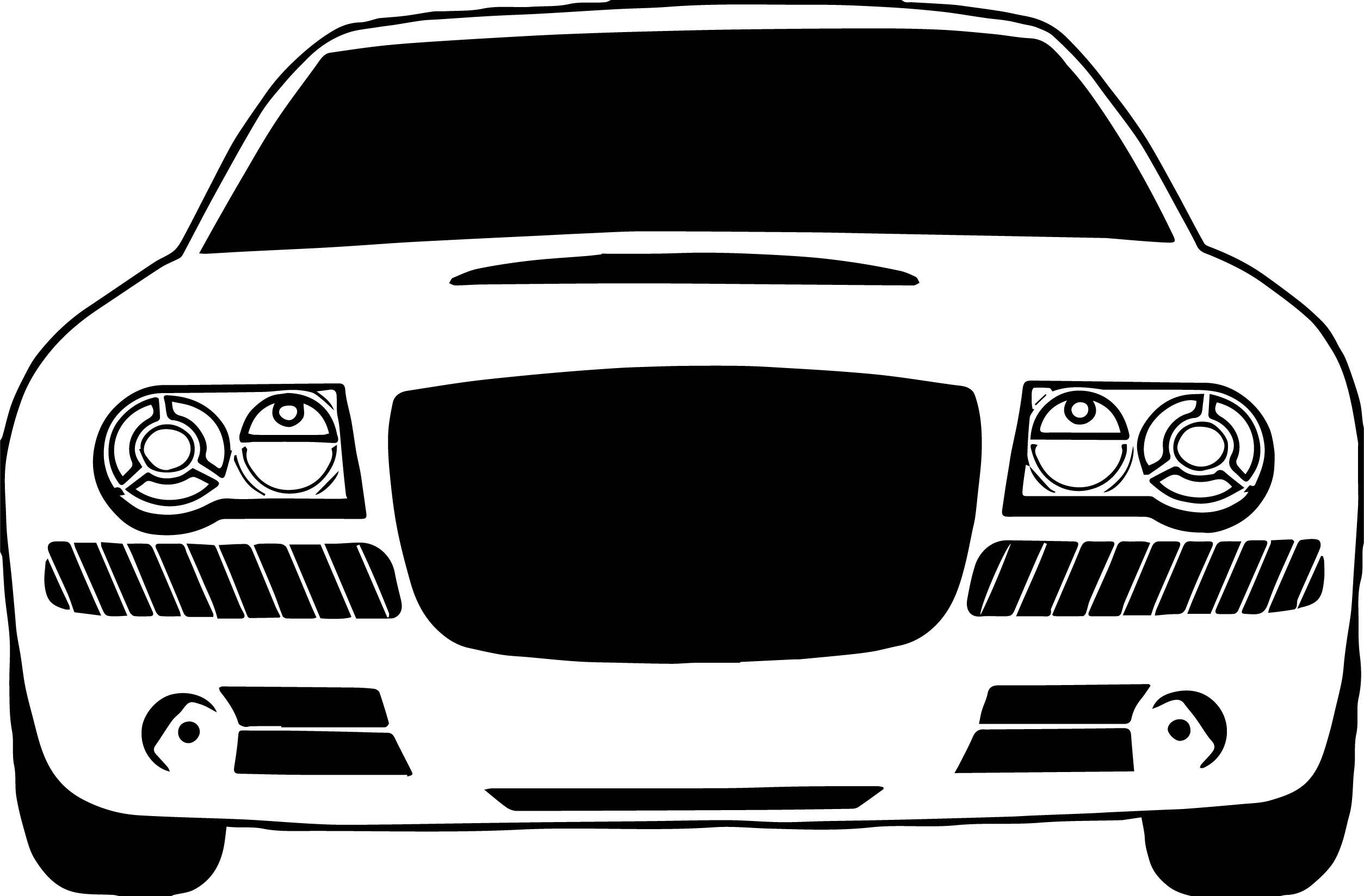 Jaguar Front Car Coloring Page