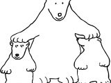 Kind Bear Coloring Page