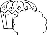 King Cupcake Black White Image Free Coloring Page