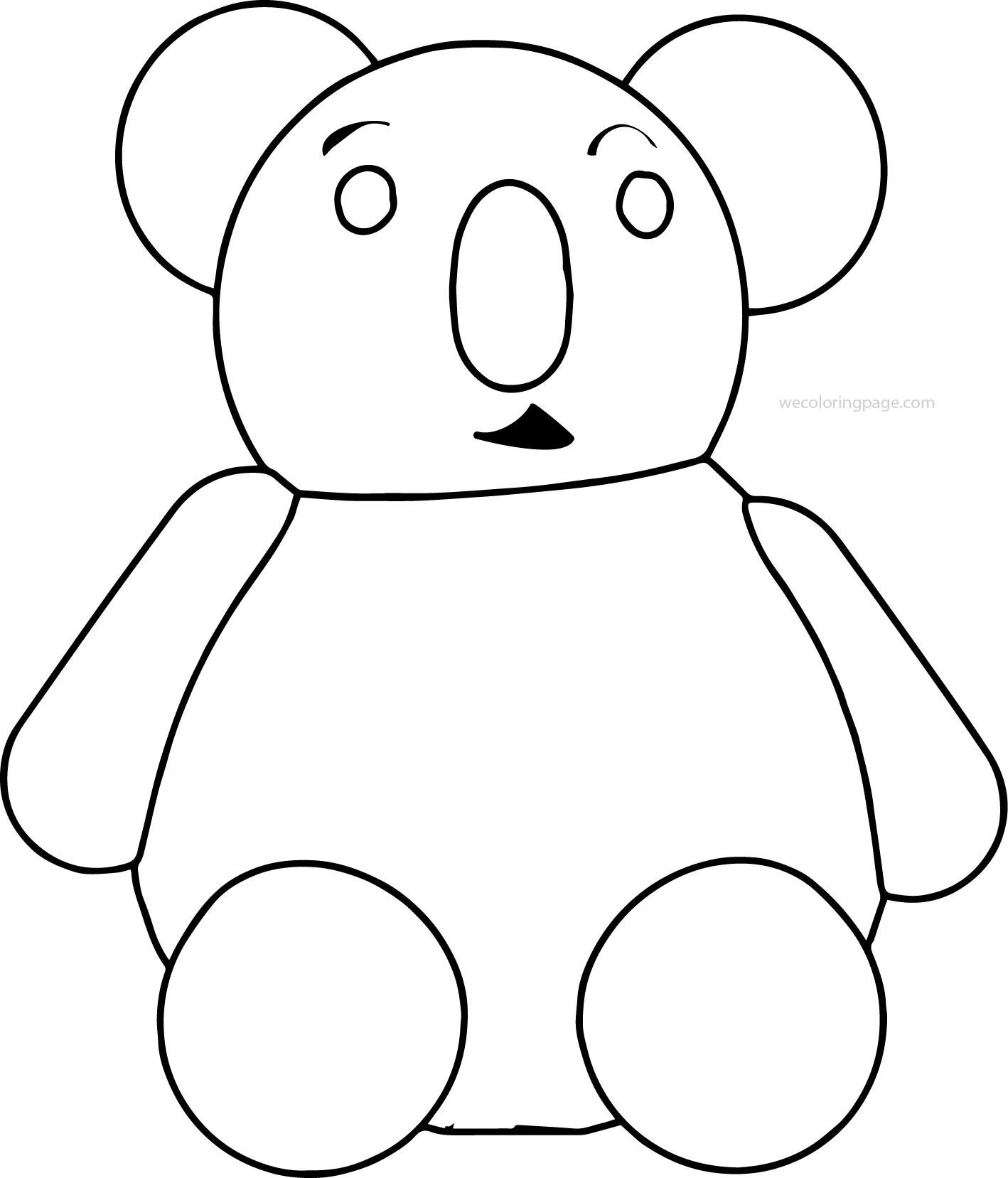 Koala Toy Coloring Page
