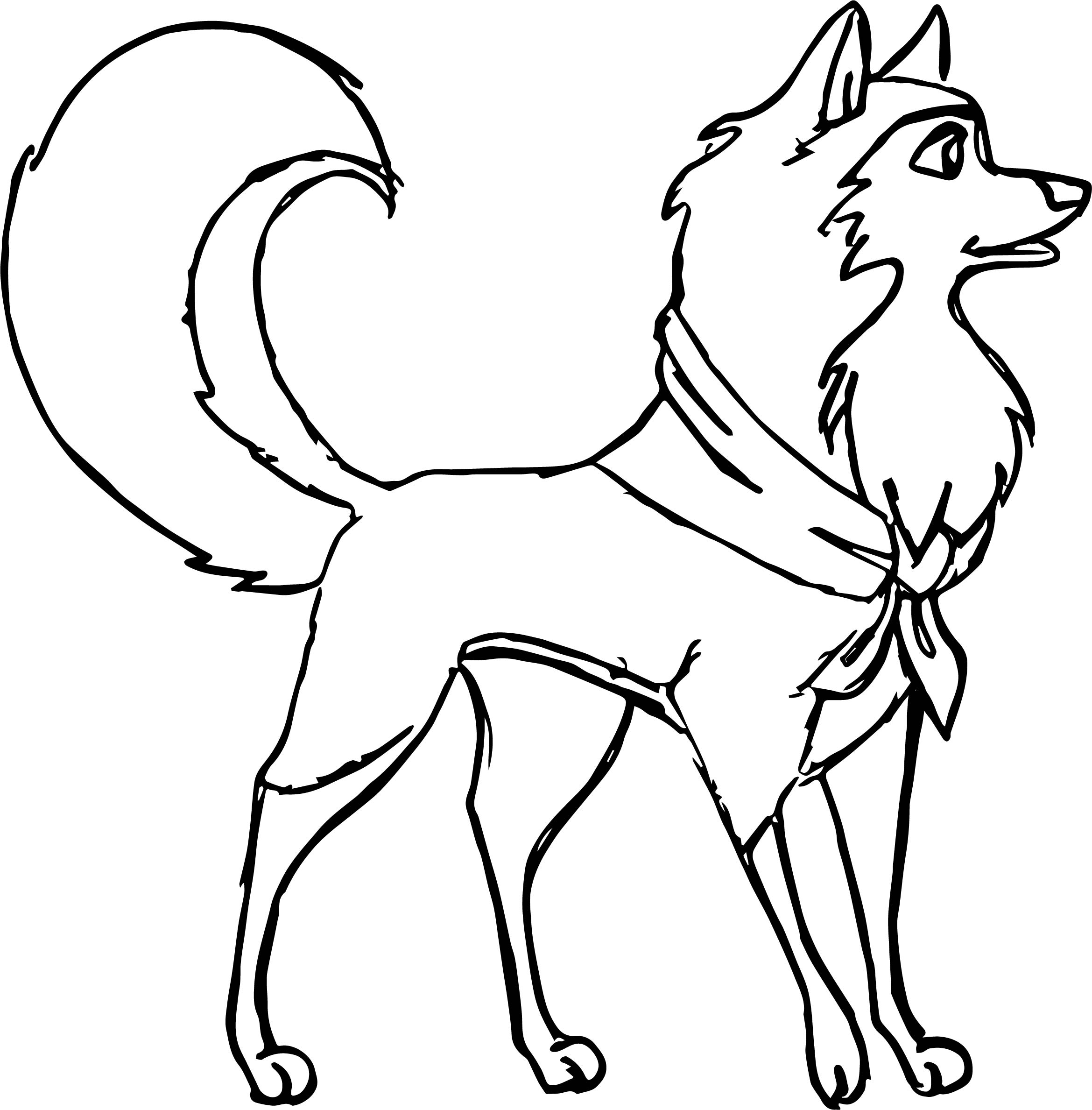 Balto And Jenna Coloring Pages Sketch Coloring Page