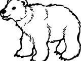 Long Bear Coloring Page