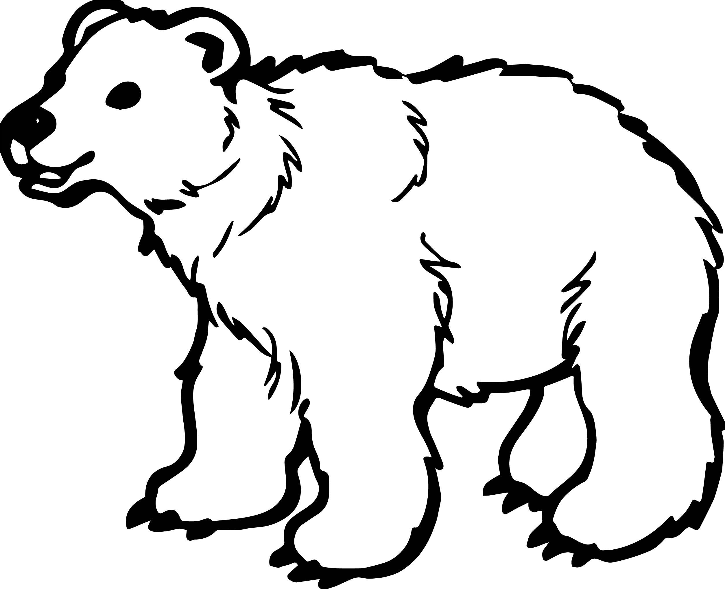 Long Bear Coloring Page
