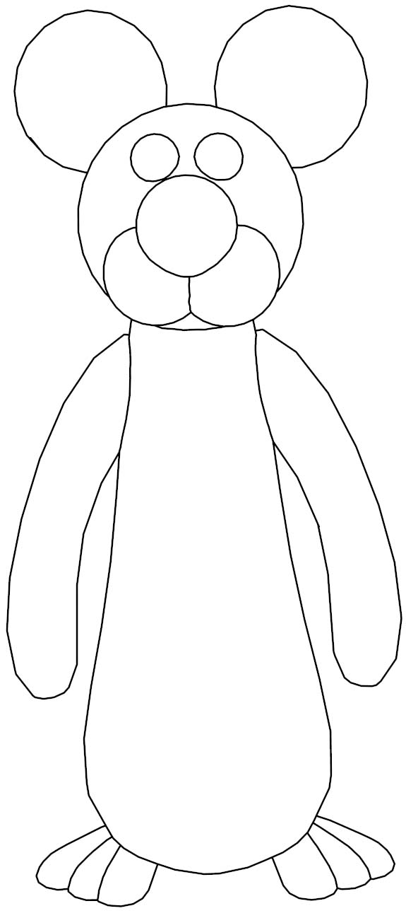 Long Mouse Coloring Page Sheets Free Download
