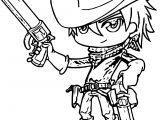 Manga Cute Cowboy Cute Cowboy Coloring Page