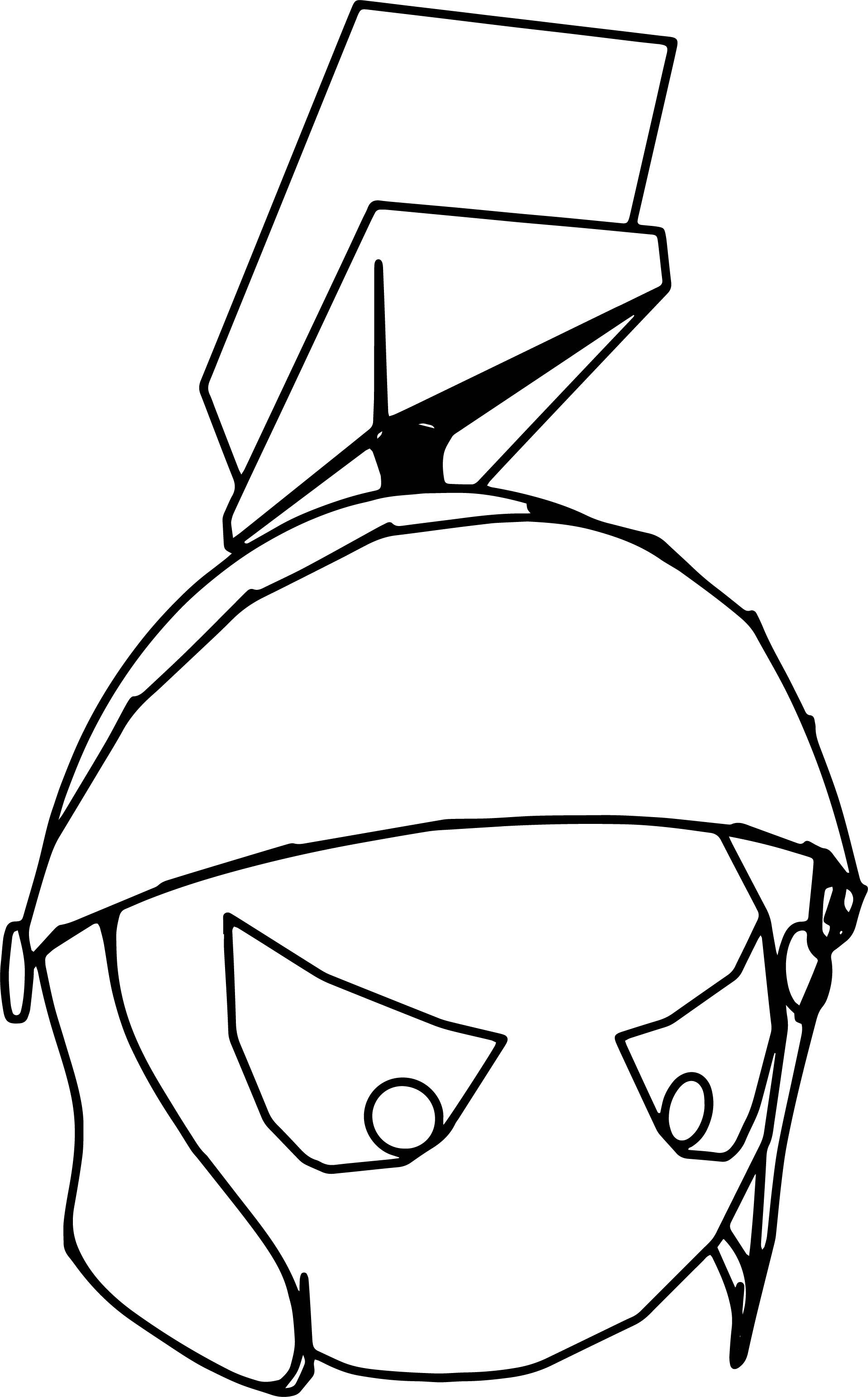 Marvins Head Coloring Page
