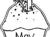 May Cupcake Coloring Page