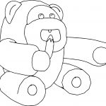 Monkey Eat Banana Coloring Page