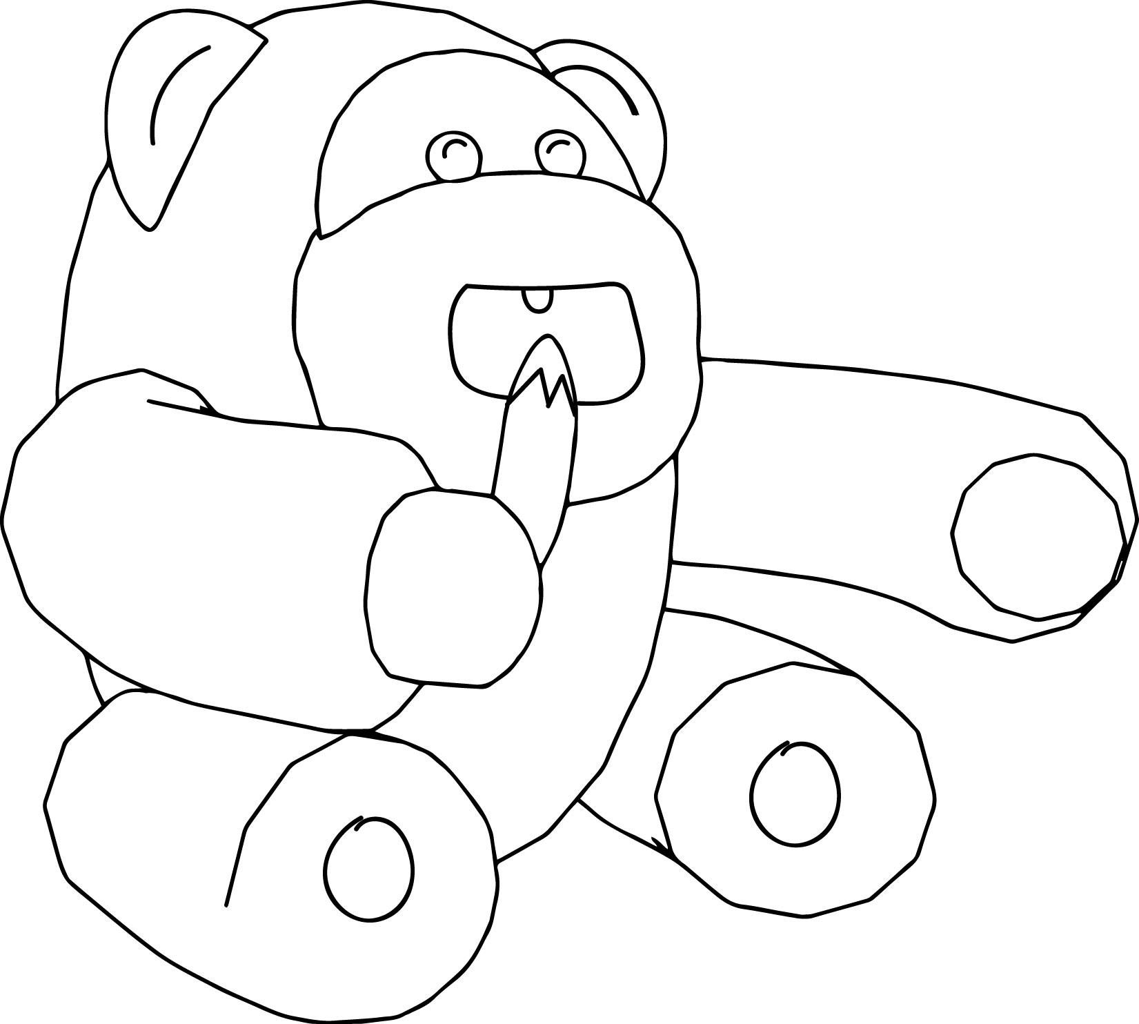 Monkey Eat Banana Coloring Page
