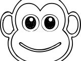 Monkey Head Coloring Page