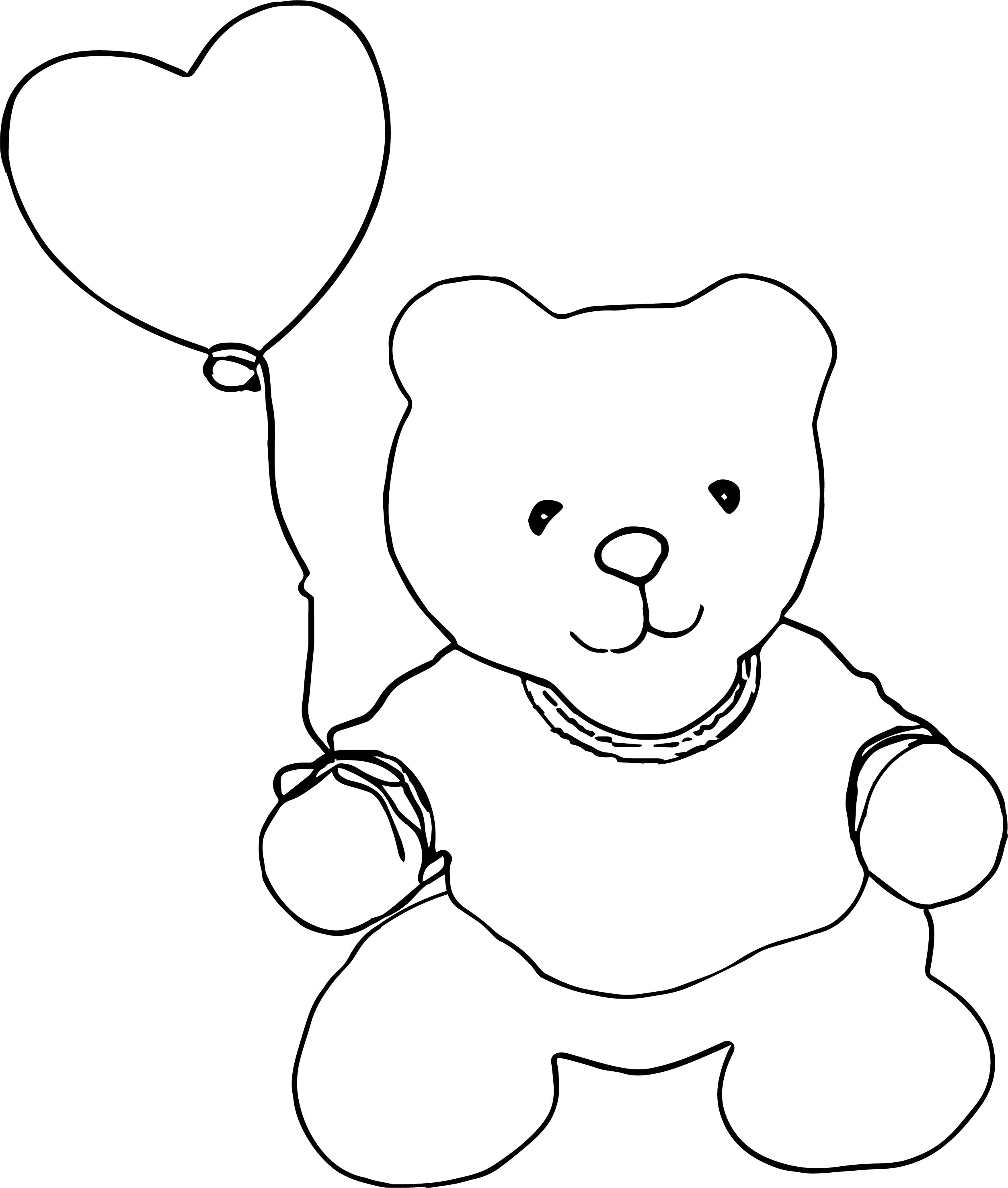 Move Bear Coloring Page