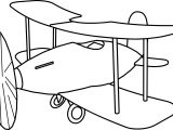 New Cartoon Plane Coloring Page