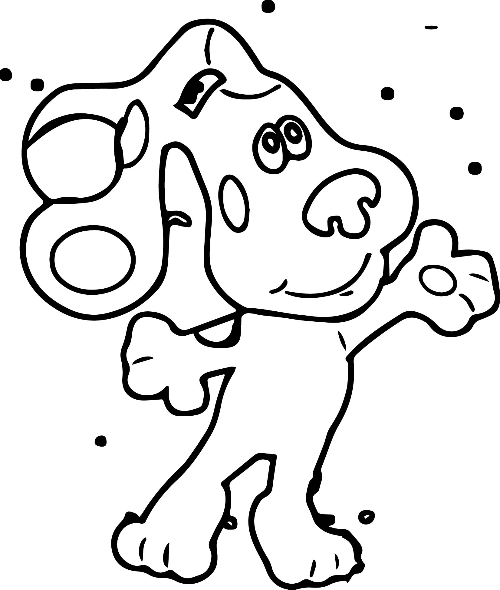 Nick Jr Blues Clues Standing Cartoon Coloring Page