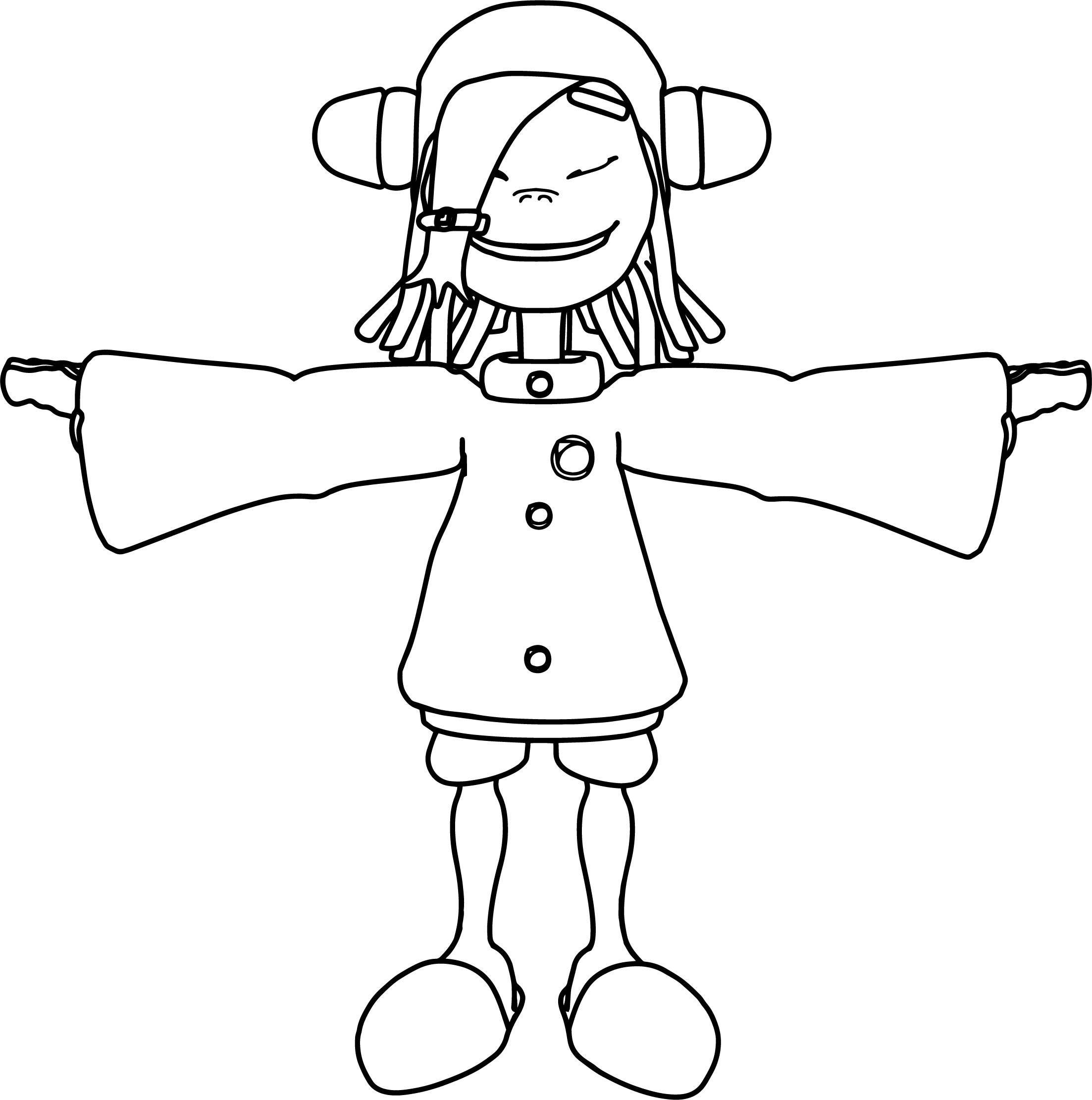 Noodle Girl Coloring Page