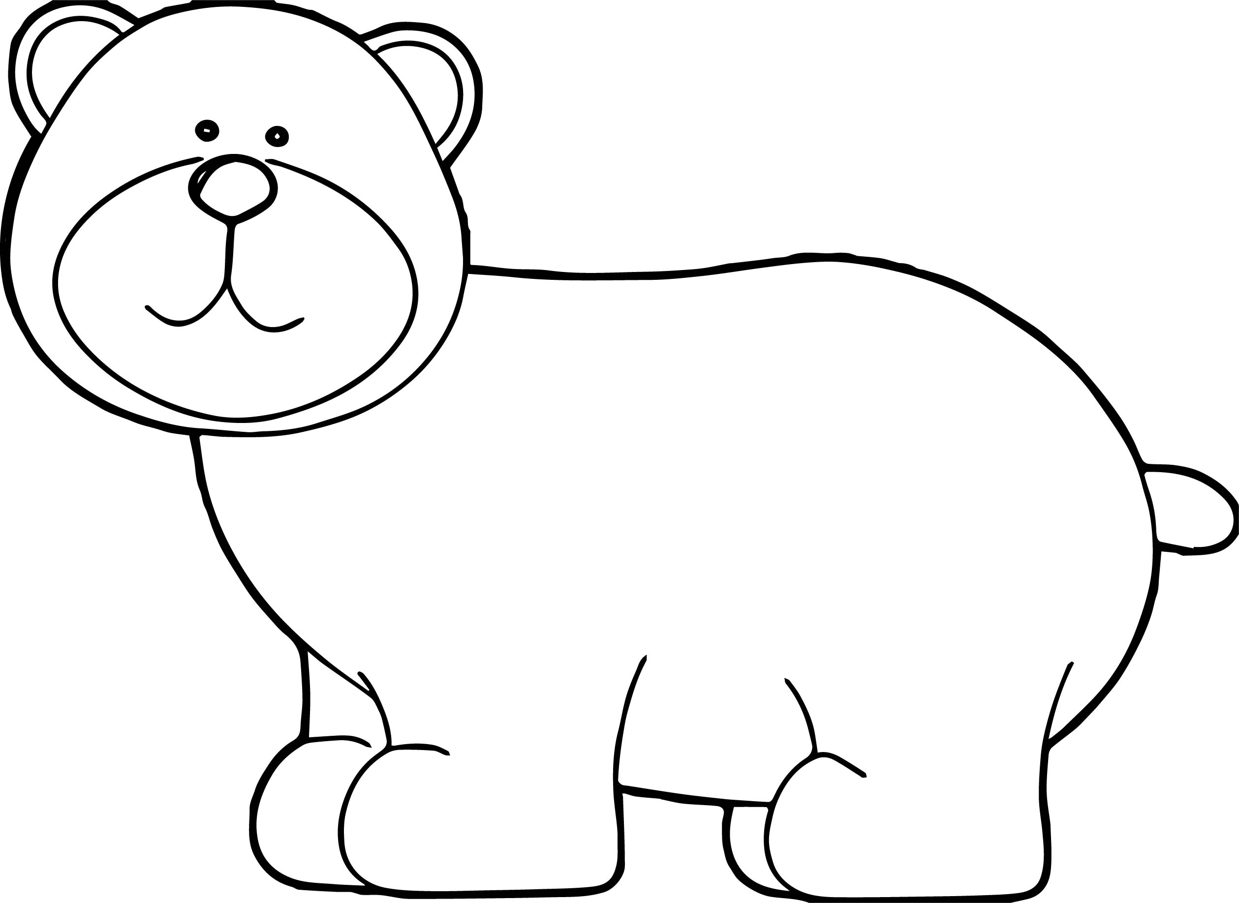 Number One Bear Coloring Page