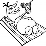 Olaf Beach Coloring Page