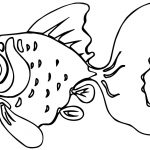 Old Fish Coloring Page