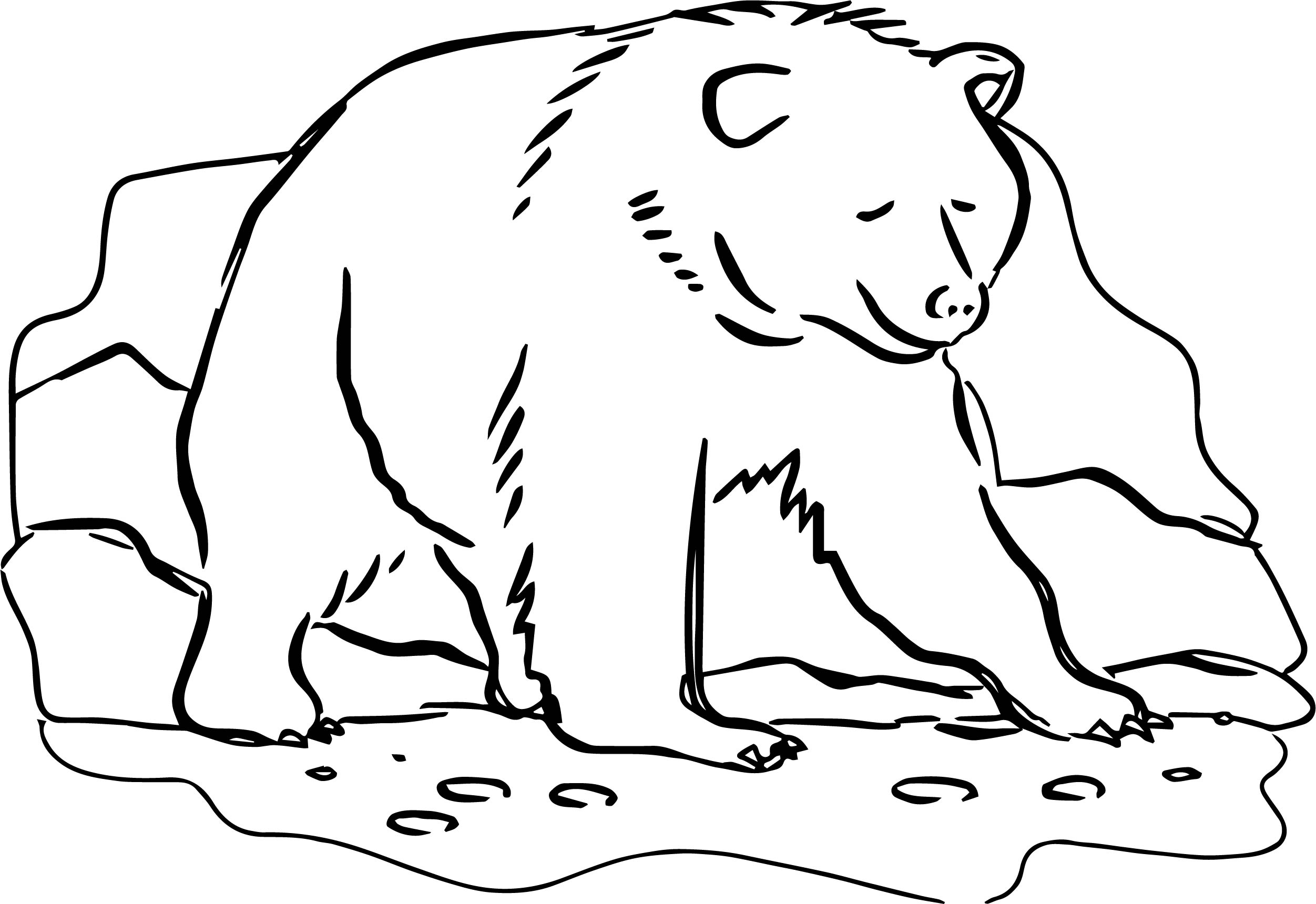 On Bear Coloring Page