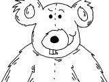 One Bear Coloring Pages